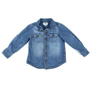 OLD NAVY chambray shirt, boy's size 4T